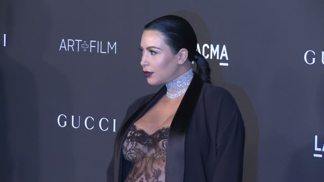 kim kardashian west at 2015 lacma artfilm gala honoring alejandro g inarritu and james turrell presented by gucci at lacma on november 07 2015 in los... - 2015 stock videos & royalty-free footage