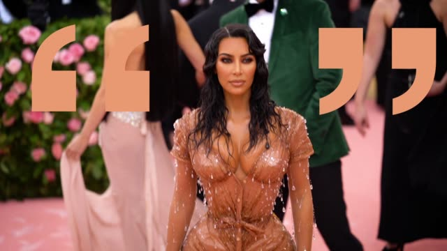 first kim kardashian west at the 2019 met gala celebrating camp notes on fashion graphic social at metropolitan museum of art on may 6 2019 in new... - met gala 2019 stock videos and b-roll footage