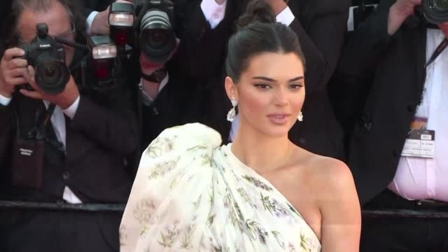 kim kardashian's half sister supermodel kendall jenner walked the red carpet on saturday at the cannes film festival ahead of the screening for the... - supermodel stock videos and b-roll footage