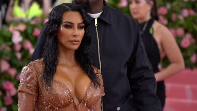 kim kardashianwest at the 2019 met gala celebrating camp notes on fashion arrivals at metropolitan museum of art on may 06 2019 in new york city - gala stock videos & royalty-free footage