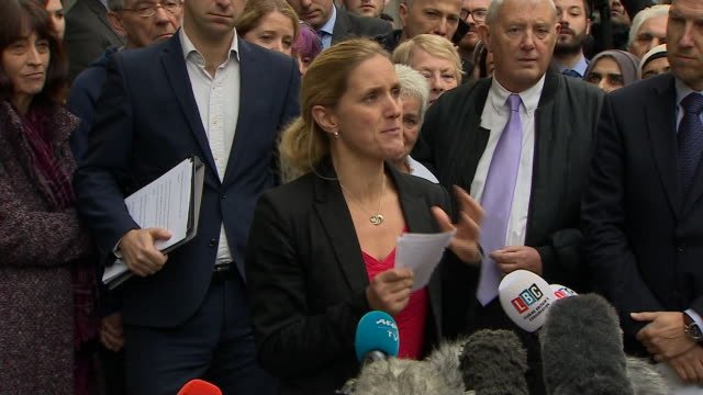 kim leadbeater sister of murdered mp jo cox reading out a statement after thomas mair is convicted of murder - thomas mair stock videos and b-roll footage