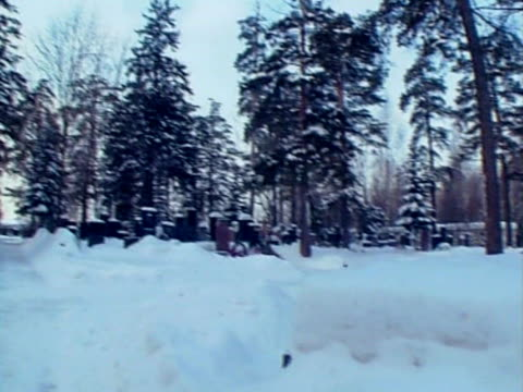 kim philby's grave in kuntsevo cemetery, moscow - moscow russia video stock e b–roll