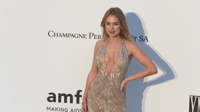 Kimberley Garner at the amfAR Cannes Gala 2019 Arrivals at Hotel du CapEdenRoc on May 23 2019 in Cap d'Antibes France