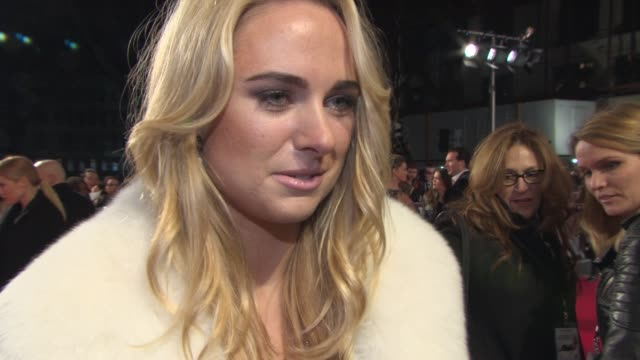 INTERVIEW Kimberley Garner on her favorite film star the nest series on 'Made In Chelsea' her swimwear company at 'Mortdecai' UK Premiere on January...
