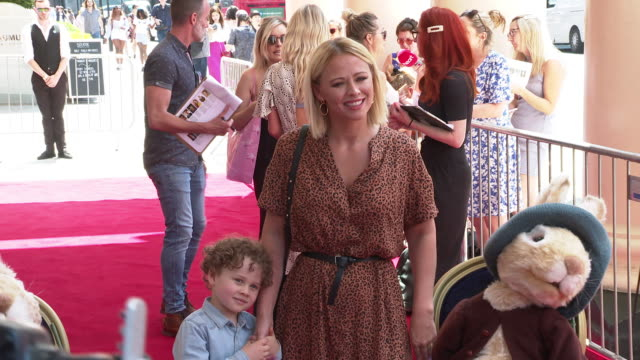 kimberley walsh at where is peter rabbit? press day at theatre royal haymarket on july 23, 2019 in london, england. - theatre royal haymarket stock videos & royalty-free footage
