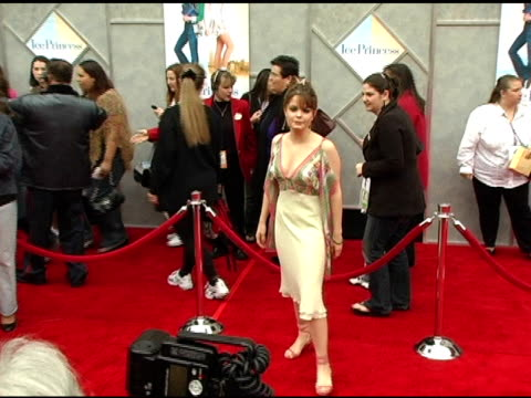 kimberly brown at the walt disney pictures' 'ice princess' premiere at the el capitan theatre in hollywood, california on march 13, 2005. - el capitan kino stock-videos und b-roll-filmmaterial