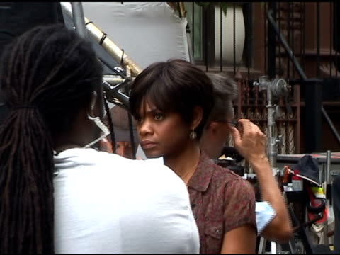 kimberly elise on the set of 'for colored girls who have considered suicide when the rainbow is enuf' in new york at the celebrity sightings in new... - suicide girls stock videos & royalty-free footage