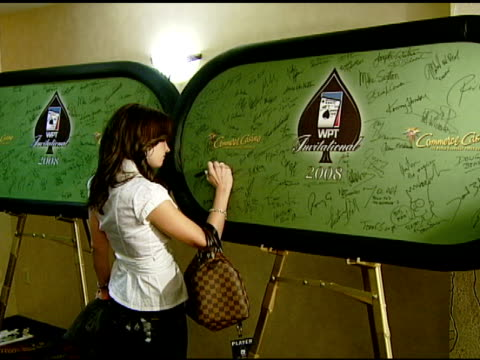 kimberly lansing at the 6th annual world poker tour at the commerce casino in los angeles california on march 2 2008 - lansing video stock e b–roll