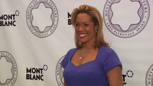 stockvideo's en b-roll-footage met kimberly richardson at the montblanc de la culture arts patronage award honors judith jamison at new york ny - arts culture and entertainment