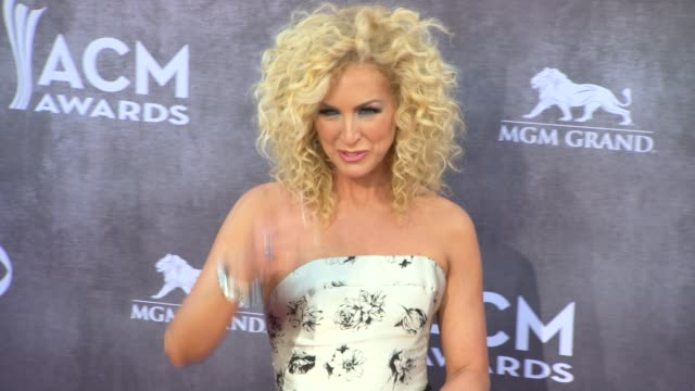 kimberly schlapman at the 49th annual academy of country music awards arrivals at mgm grand garden arena on april 06 2014 in las vegas nevada - academy of country music awards stock videos & royalty-free footage