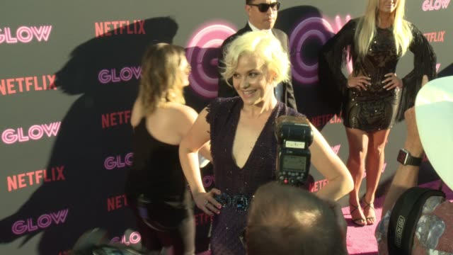 kimmy gatewood at a netflix original series glow los angeles premiere at arclight cinemas cinerama dome on june 21 2017 in hollywood california - cinerama dome hollywood stock videos and b-roll footage