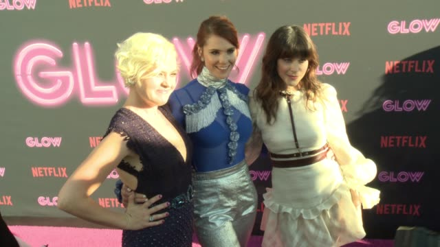 kimmy gatewood kate nash jackie tohn at a netflix original series glow los angeles premiere at arclight cinemas cinerama dome on june 21 2017 in... - cinerama dome hollywood stock videos and b-roll footage