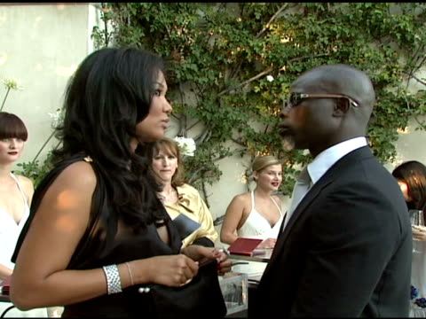 kimora lee simmons and djimon hounsou at the cartier hosts the third annual loveday celebration at los angeles california - kimora lee simmons stock videos & royalty-free footage