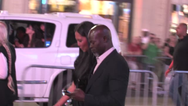 kimora lee simmons and djimon hounsou at the 'inception' premiere in hollywood on at the celebrity sightings in los angeles at los angeles ca - kimora lee simmons stock videos & royalty-free footage