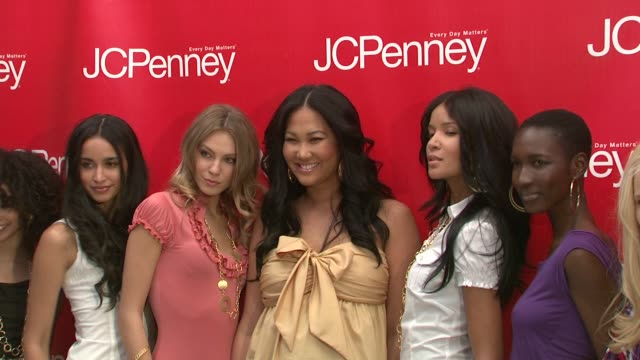 kimora lee simmons and models at the jcpenney steps up its style with design partner's fashion showcase at new york ny - kimora lee simmons stock videos & royalty-free footage