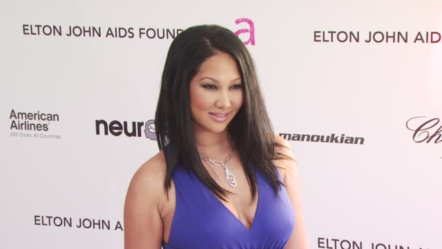 kimora lee simmons at the 18th annual elton john aids foundation oscar party at west hollywood ca - kimora lee simmons stock videos & royalty-free footage