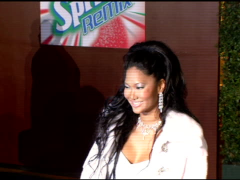 kimora lee simmons at the 19th annual soul train music awards arrivals at paramount studios in hollywood california on february 28 2005 - kimora lee simmons stock videos & royalty-free footage