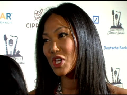 kimora lee simmons at the 2006 cipriani/deutsche bank concert series benefiting amfar at cipriani in new york, new york on april 19, 2006. - マンハッタン チプリアーニ点の映像素材/bロール