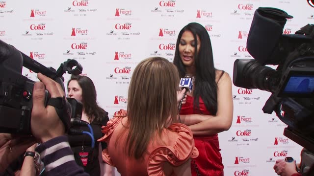 kimora lee simmons at the the heart truth's red dress collection backstage fall 2010 mbfw at new york ny - kimora lee simmons stock videos & royalty-free footage