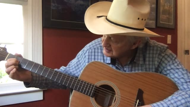 kind senior man gives a virtual acoustic guitar lesson via video call (audio) - country and western stock videos & royalty-free footage
