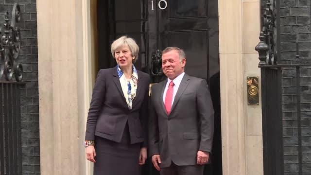 King Abdullah II of Jordan meets British prime minister Theresa May at 10 Downing Street for bilateral talks