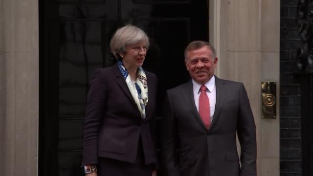 King Abdullah II of Jordan visits Downing Street King Abdullah II of Jordan visits Downing Street ENGLAND London Downing Street EXT King Abdullah II...