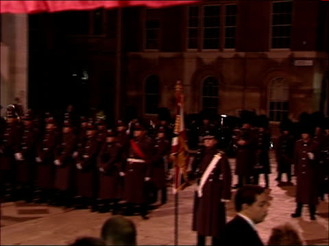 king abdullah of saudi arabia state visit: guildhall state banquet; lord mayor of the city of london alderman john stuttard and wife arrival and... - state dinner stock videos & royalty-free footage