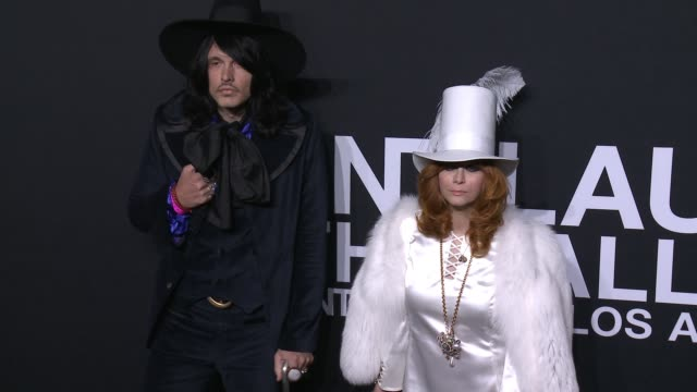 jd king and linda ramone at saint laurent event at hollywood palladium on february 10 2016 in los angeles california - hollywood palladium stock videos & royalty-free footage