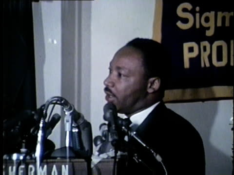 king at a chicago headline club event. mlk and other civil rights leaders led several marches and demonstrations in chicago during the summer of... - martin luther king stock videos & royalty-free footage