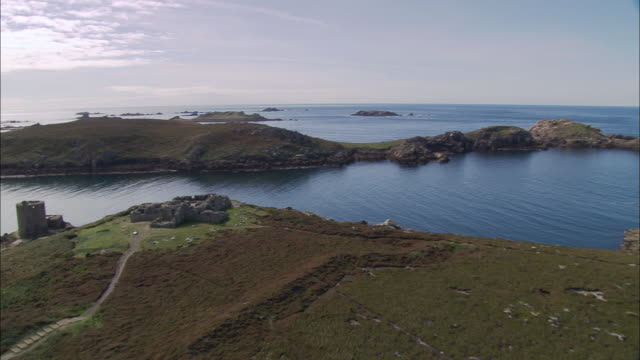 king charles and cromwell's castles - isles of scilly stock videos & royalty-free footage