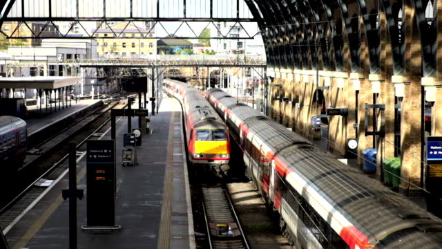 king cross st. pancras london train station, uk - euro symbol stock videos and b-roll footage