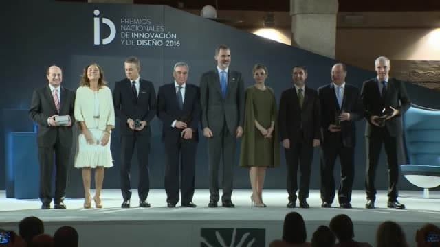king felipe of spain and queen letizia of spain attend 2016 innovation and design awards - queen letizia of spain stock videos and b-roll footage