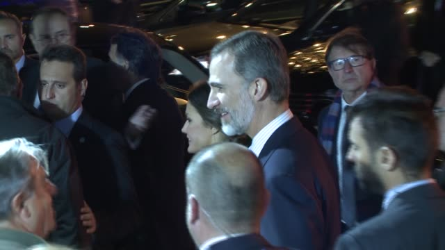 King Felipe VI of Spain and Queen Leitizia of Spain attend an act commemorate the 20th anniversary of the Spanish newspaper 'La Razon' in Madrid