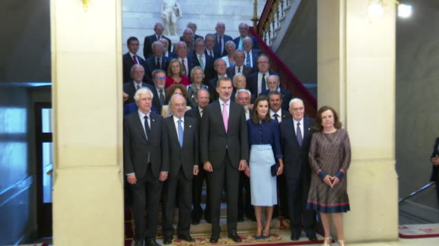 King Felipe VI of Spain and Queen Letizia Attend The Royal Academy of the Spanish Language Event