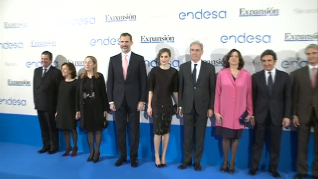 King Felipe VI of Spain and Queen Letizia of Spain attend 'Expansion' newspaper 30th anniversary dinner at the Palace Hotel