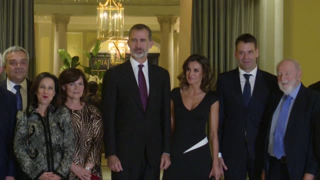 King Felipe VI of Spain and Queen Letizia of Spain attend the 'Francisco Cerecedo' journalism award 2018 at the Palace Hotel on October 22