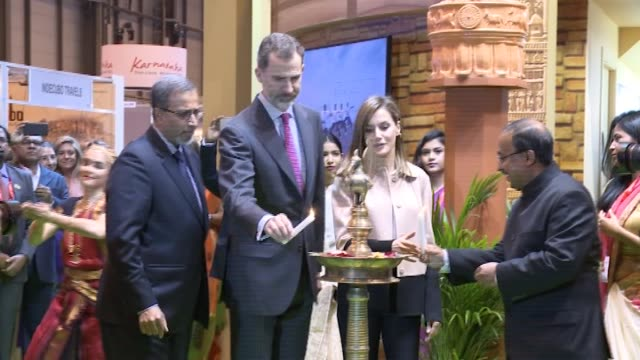 King Felipe VI of Spain and Queen Letizia of Spain inaugurate FITUR International Tourism Fair 2018 at Ifema