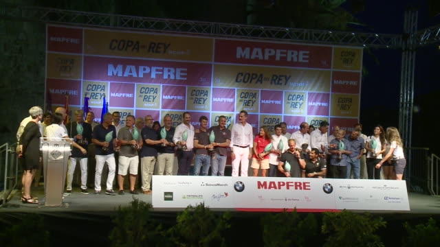 King Felipe VI of Spain delivers 38 Copa del Rey Mapfre Award in Palma of Mallorca