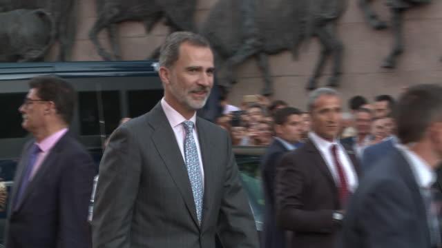 King Felipe VI of Spain Leaves Las Ventas in Madrid