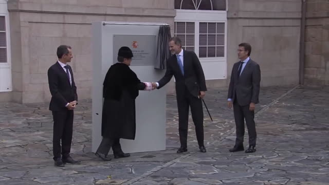 king felipe vi presents new university season in a coruña - galicia stock videos & royalty-free footage