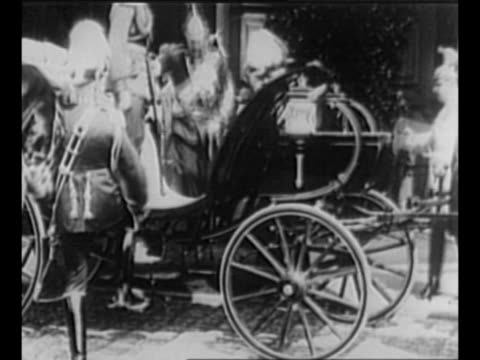 king george v and kaiser wilhelm ii get into imperial coach during george's 1913 visit to germany / montage george at the front during world war i,... - 1910 stock videos & royalty-free footage