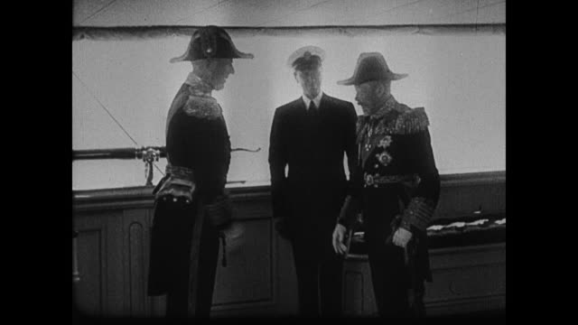 king george v boarding a ship - 1935 stock videos & royalty-free footage