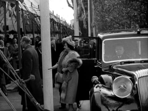 king george vi and queen elizabeth arrive at kingston-on-thames power station for its opening ceremony. - opening ceremony stock videos & royalty-free footage
