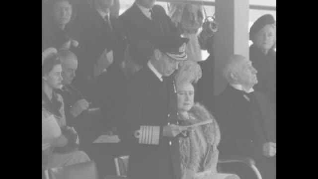 SOT King George VI speaks at dedication ceremony for statue of former US President Franklin Roosevelt in London's Grosvenor Square King praises...