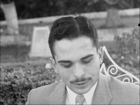 king hussein interviewed; jordan: amman: ext king of jordan interviewed sot - [on whether he is in danger from revolutionaries inside jordan) the... - israel stock videos & royalty-free footage