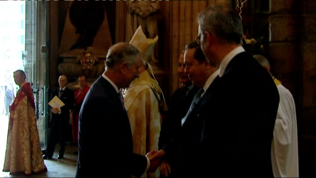 westminster abbey service england london westminster abbey photography** various of prince charles prince of wales shaking hands and greeted by rowan... - archbishop of canterbury stock videos and b-roll footage