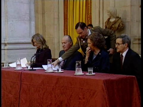 King Juan Carlos and Queen Sofia attends th Investigation Awards in Madrid Madrid Spain