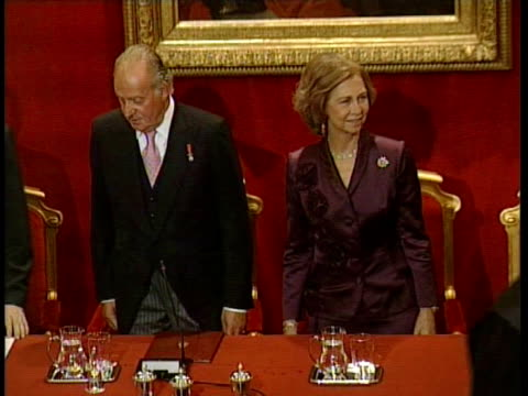 King Juan Carlos and Queen Sofia goes to the opening of academic course of jurisprudence and legislature Madrid Spain