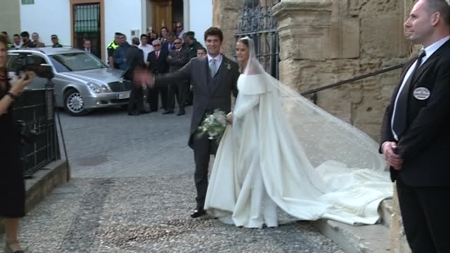 King Juan Carlos I Camilla Duchess of Cornwall Andrea Casiraghi and Tatiana Santo Domingo attends the wedding of Lady Charlotte and Alejandro Santo...