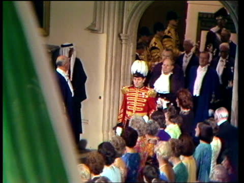 King Khalid of Saudi Arabia state visit London Guildhall MS Procession enters Guildhall